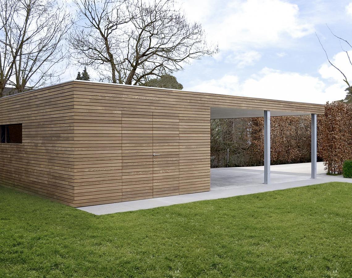 Moderne Carports moderne carport met ecologische hotwood essen moderne bijgebouwen
