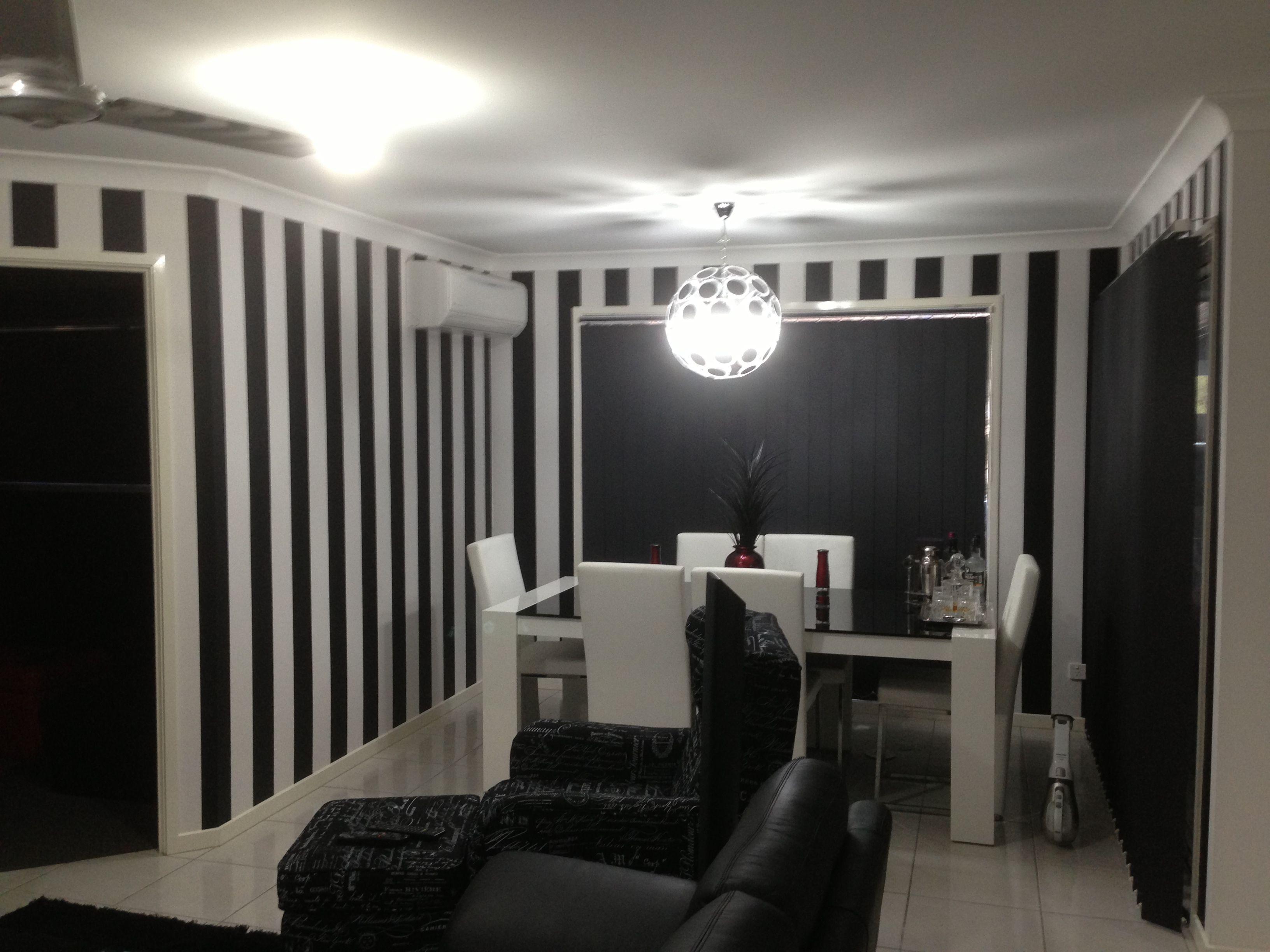 Monochrome Vertical Stripes Black And White Wallpaper Striped Wallpaper Home Wallpaper White Wallpaper Black And White Wallpaper