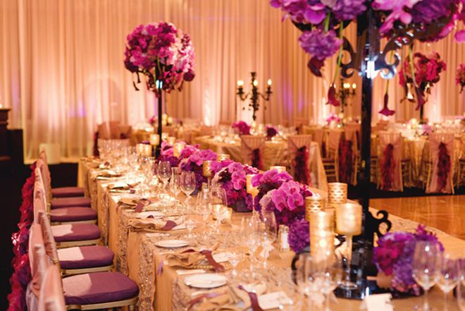 Love this color combo: gold, magenta and black.