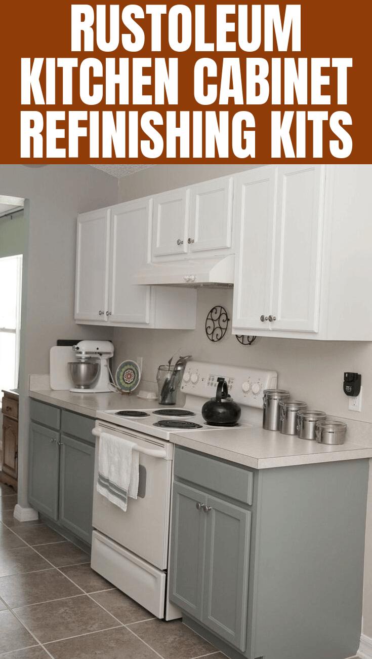 Rustoleum Kitchen Cabinet Refinishing Kits With Images Refinishing Cabinets Refinishing Kit Kitchen Cabinets