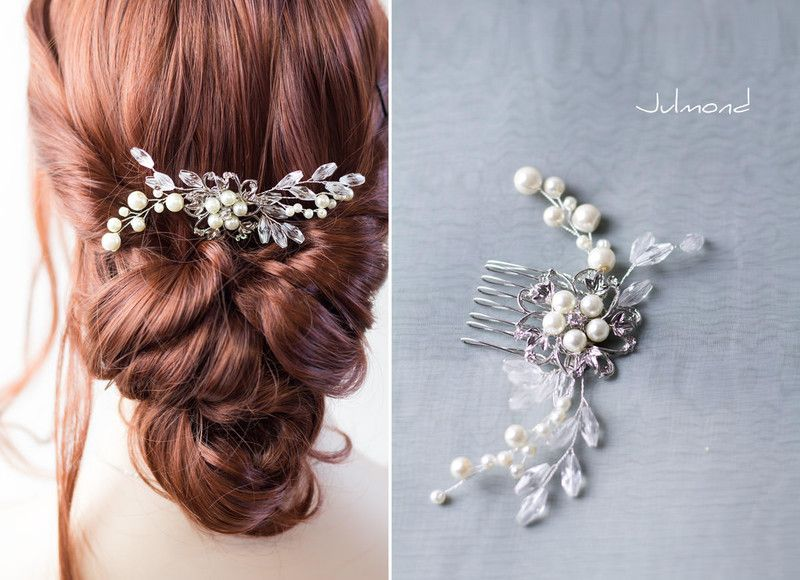 Haarkamm+Perlen+Strass+Hochzeit+Haarschmuck+von+Julmond ...