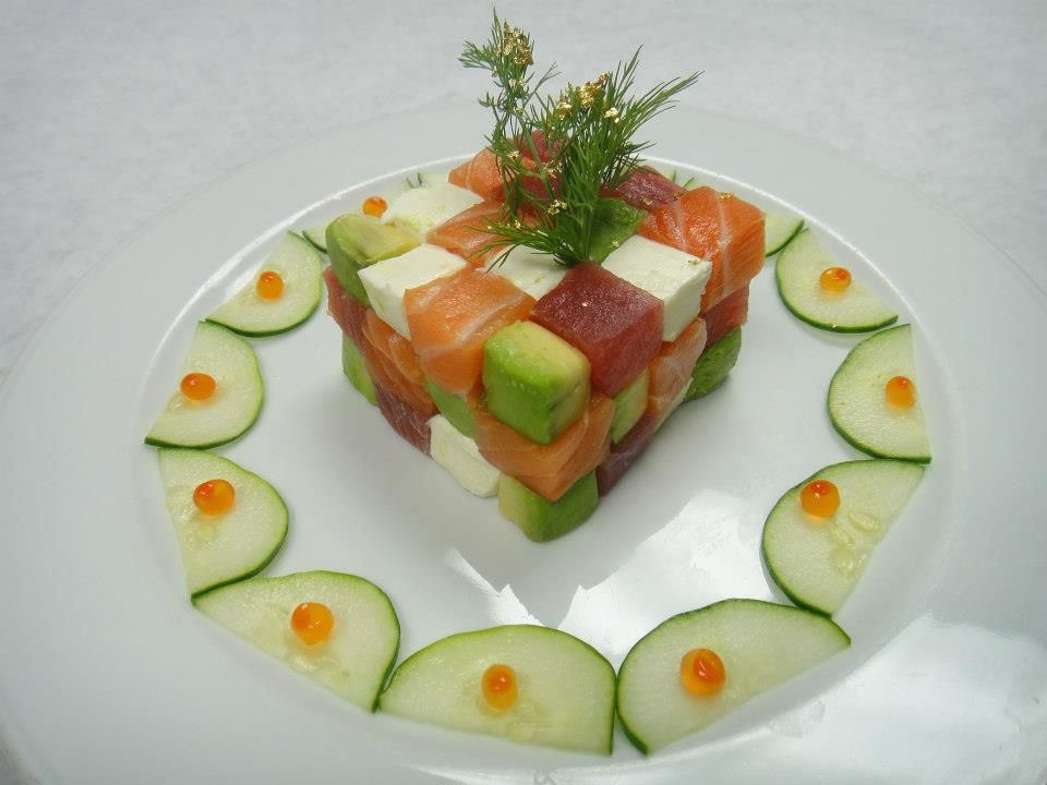 Hiro S Cube From Nove Kitchen Bar In Miami Raw Fish Recipes Food How To Make Sushi