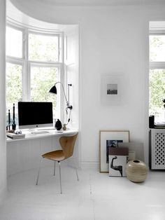 """myidealhome: """" • workspace in a window nook (via 79 Ideas) """""""