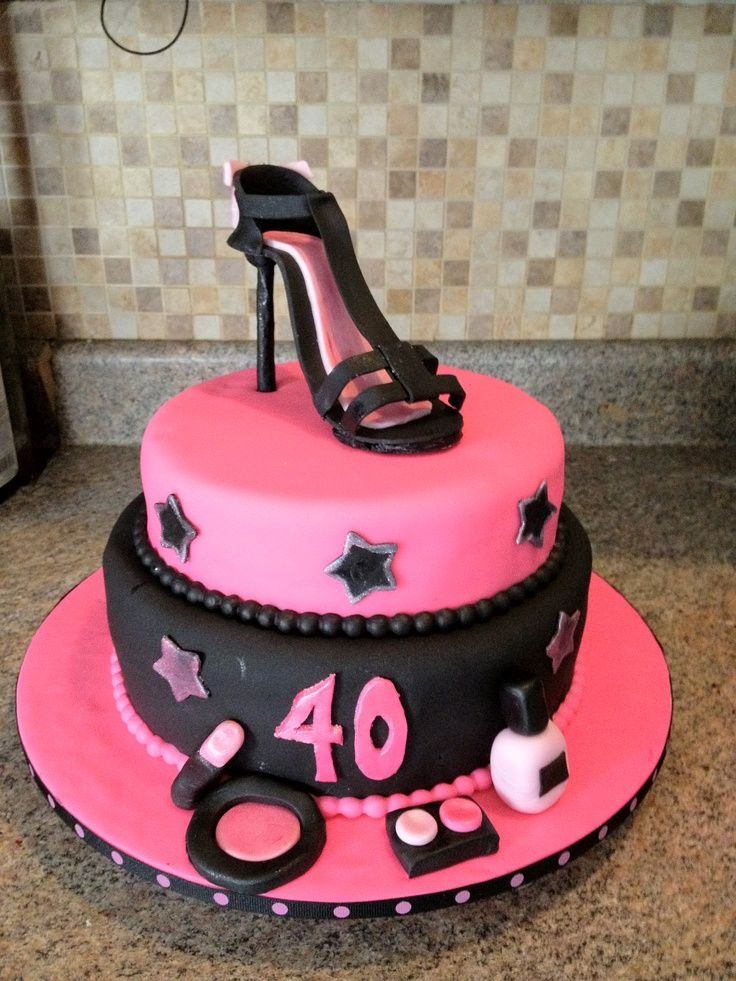Elegant 40th Birthday Cakes Via Heather Lessard cool cake ideas