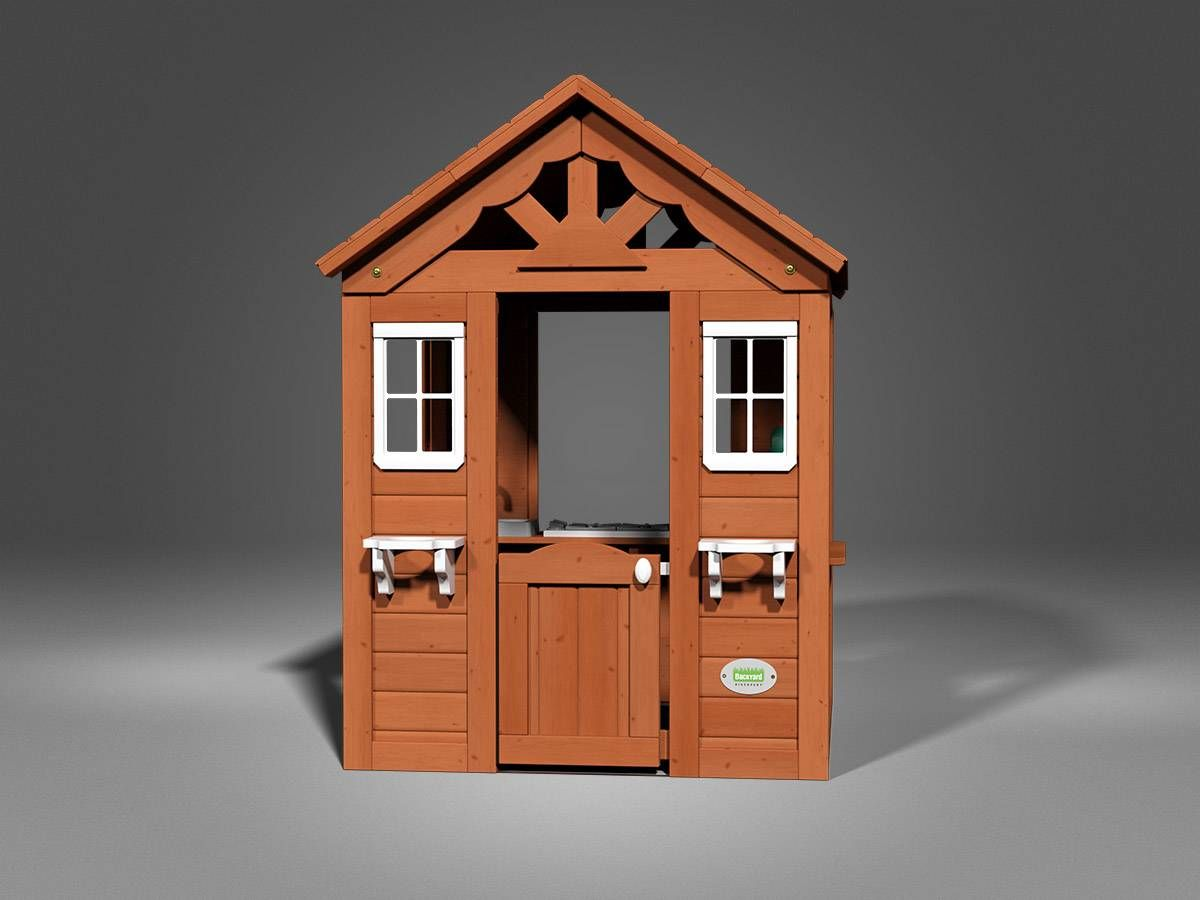 Backyard Discovery Timberlake Cedar Wooden Playhouse ...