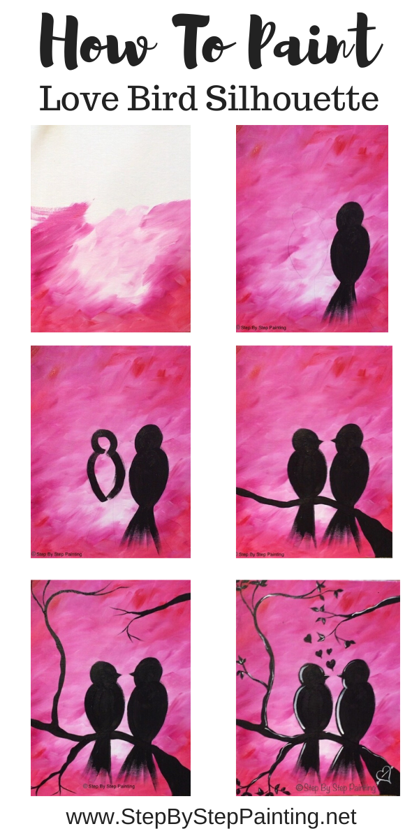 How To Paint Love Birds On Branch Simple Canvas Paintings Love Birds Painting Canvas Painting Diy Experts share their favorite easy painting ideas to add splashes of color to your home. love birds painting