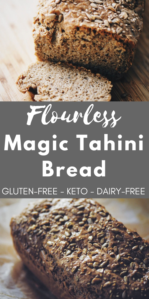 Flourless Magic Tahini Seed Bread (GlutenFree, Keto