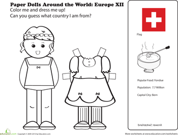 Paper Dolls Around the World Europe
