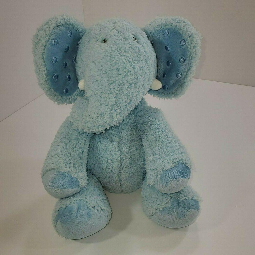 Hallmark Dewberry Blue Baby Boy Elephant Stuffed Animal Plush Toy Blue Hallmark Elephant Stuffed Animal