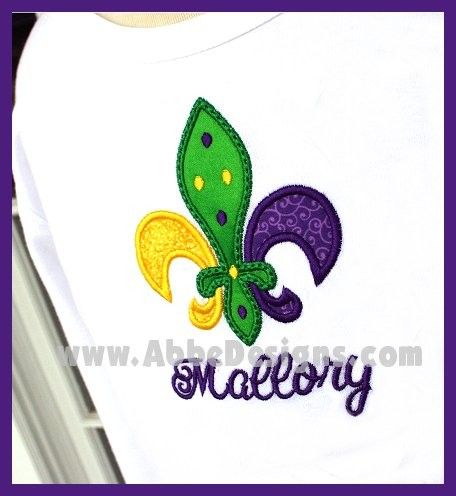 Monogrammed Mardi Gras Fleur De Lis T Shirt  Child T by abbytrey, $26.95