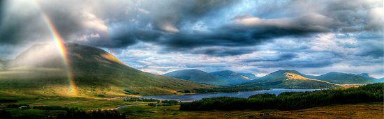 Rainbow Over Rannoch Moor, Scottish Highlands