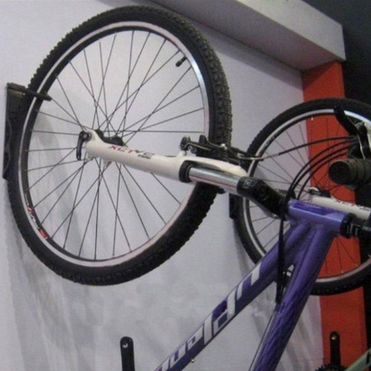 Black Wall Mount Cycle Hanging Bicycle Bike Storage Hook Hooks Bracket Hangers