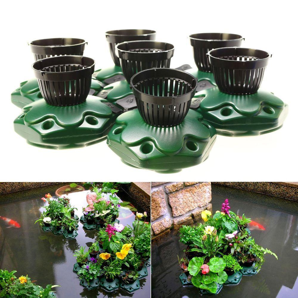 7Pcs Aquaponics Floating Pond Planter Pots Set 640 x 480