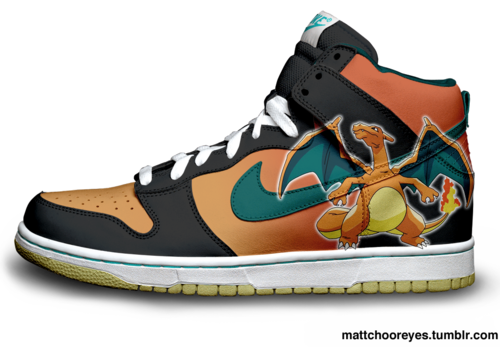 I found Charizard nike Dunks on Wish, check it out!