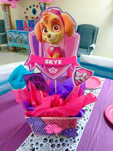Paw Patrol Girl Centerpiece