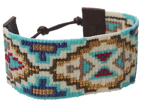 Chan Luu 6' Turquoise Mix Seed Bead Cuff Bracelet
