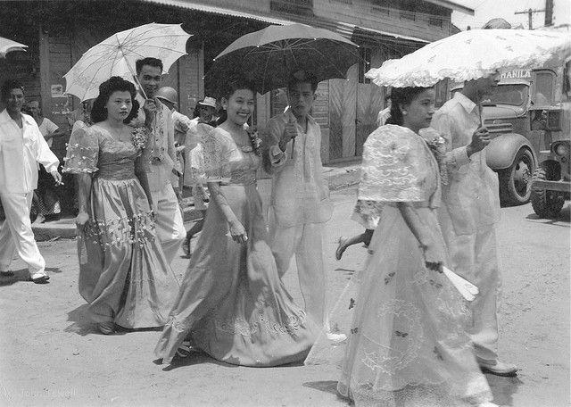Manila Philippines Last Half Of The 1940s Philippines Fashion