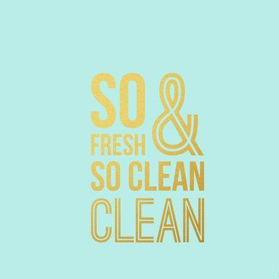 SweetumsWallDecals So Fresh and So Clean Bathroom Wall Decal Color: Gold