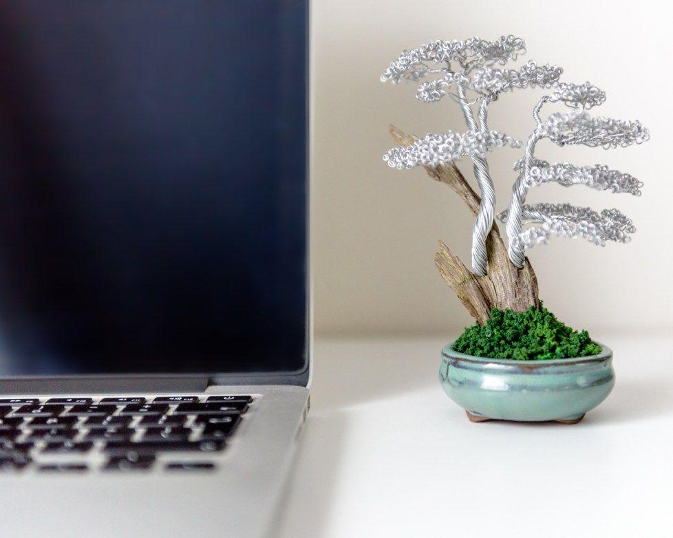 office bonsai tree. Metal Bonsai- Hand Made Wire Tree Sculptures. Office Bonsai. Pretty. Bonsai H