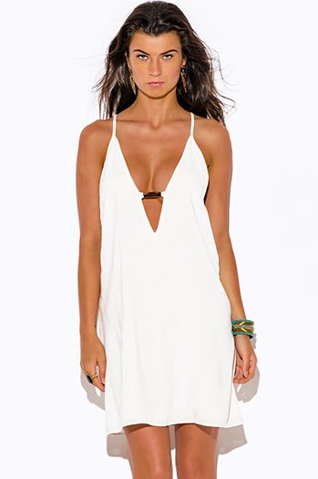 b6bee4e93bb  20 - Cute cheap sundress - white cut out bejeweled backless summer sexy  party mini sun dress