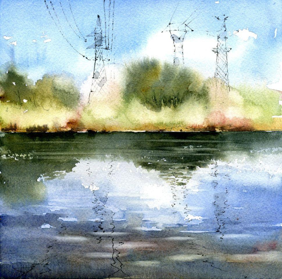 Картинки акварельными пейзажи