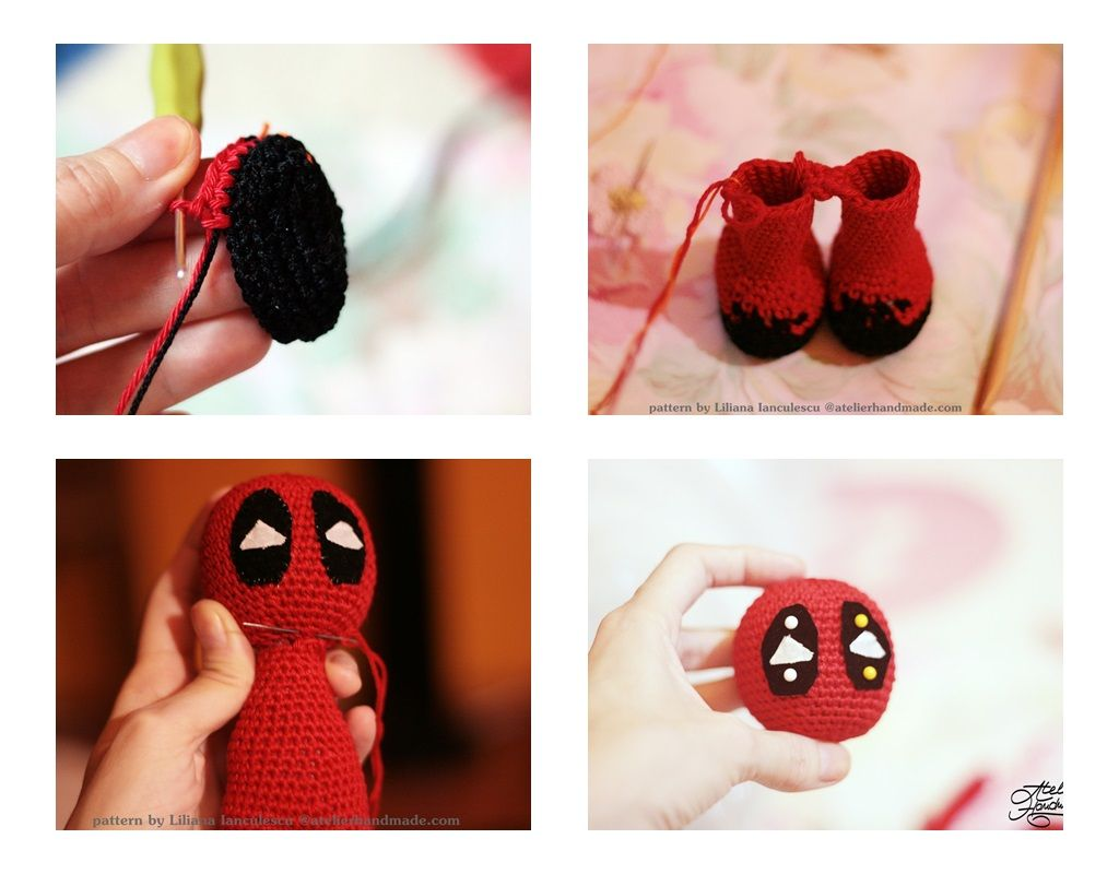 Free Crochet Pattern - DeadPool - Jucarie Crosetata | Crochet toys ... | 800x1024