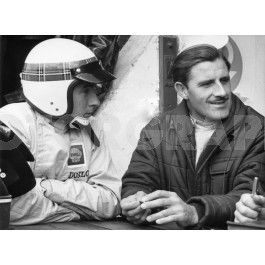 Jackie Stewart and Graham Hill 1965