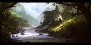 Jungle outpost by AndreeWallin