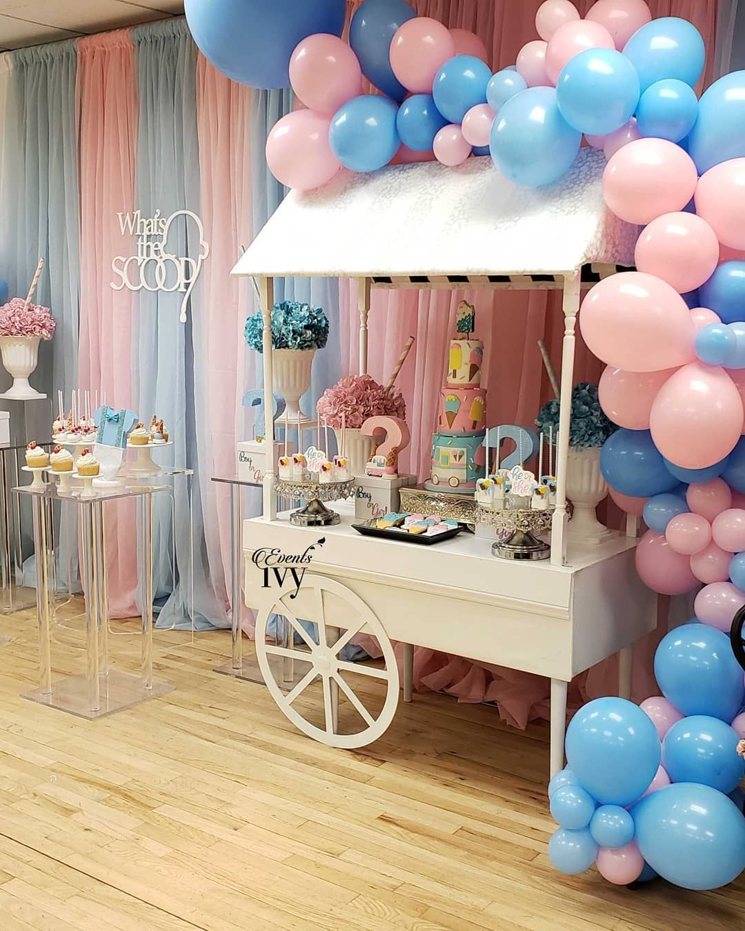Events Ivy Inc On Instagram What S The Scoop Gender Reveal Eventsivy Gender Reveal Decorations Gender Reveal Party Decorations Baby Gender Reveal Party