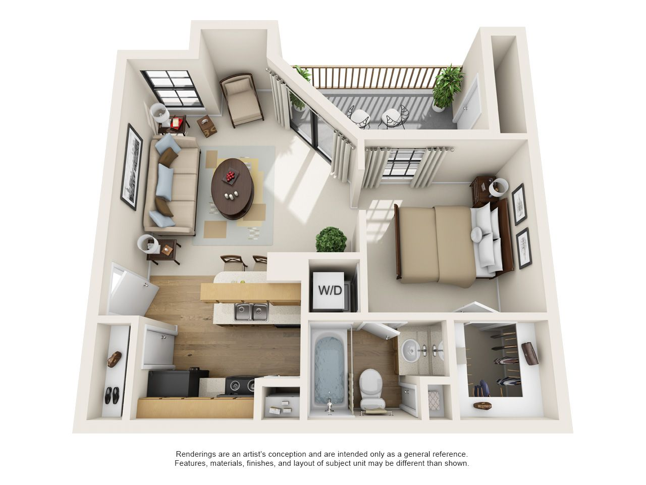 One and Two Bedroom Apartments in Dallas, TX   Layouts dallas ...
