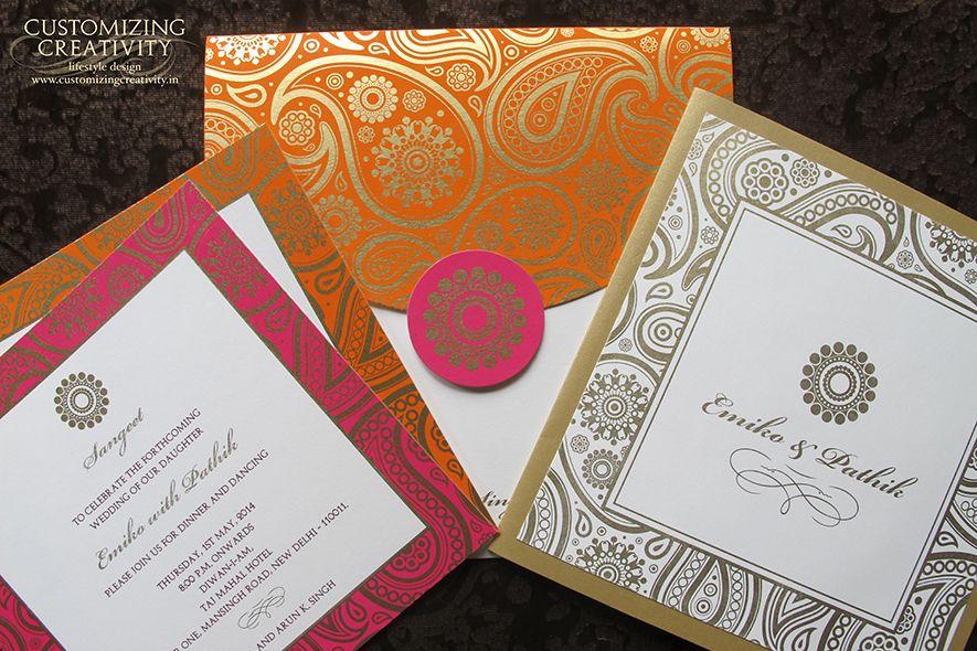 customizing creativity  modern indian wedding invitations