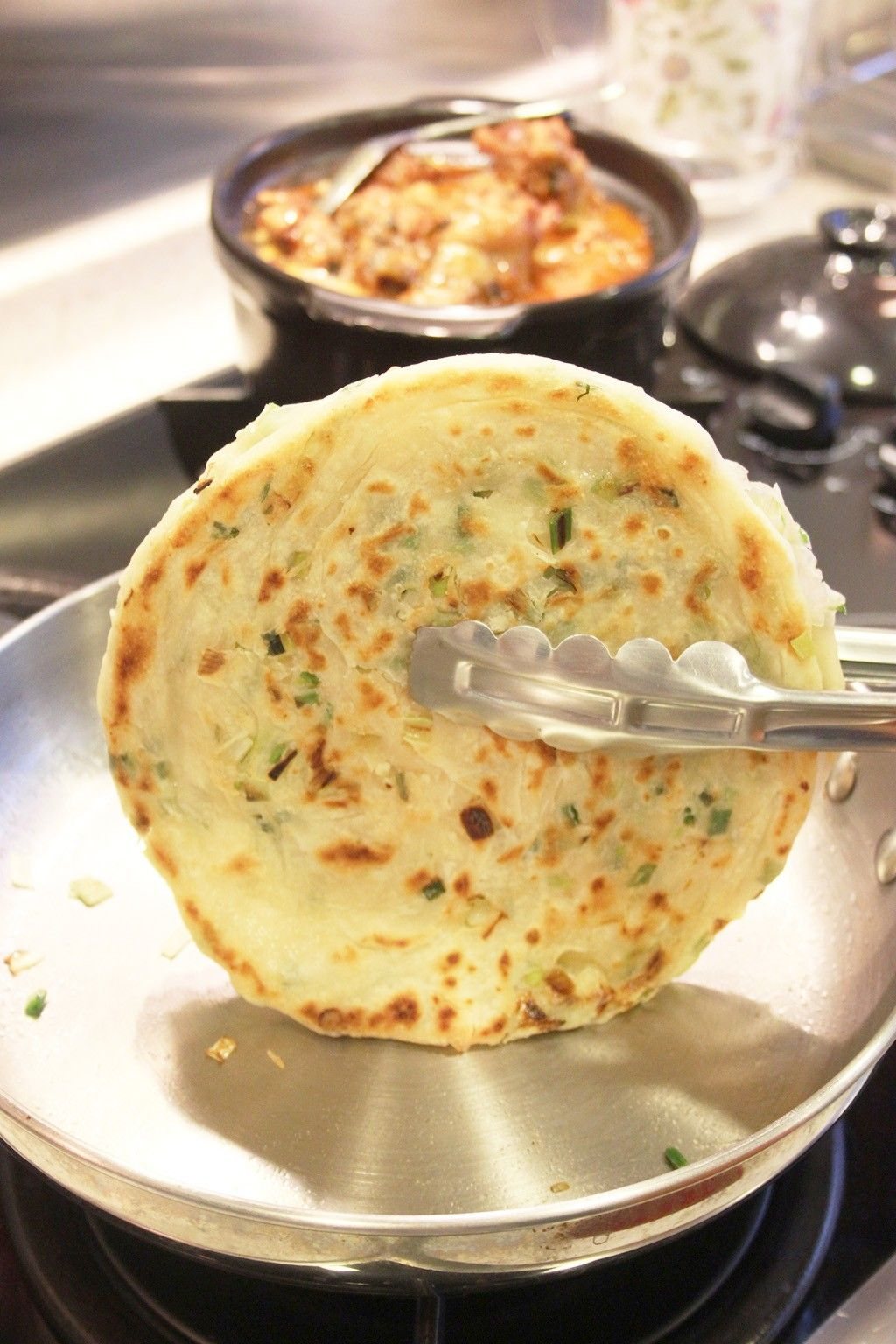 Chinese spring onion pancakes recipe with images