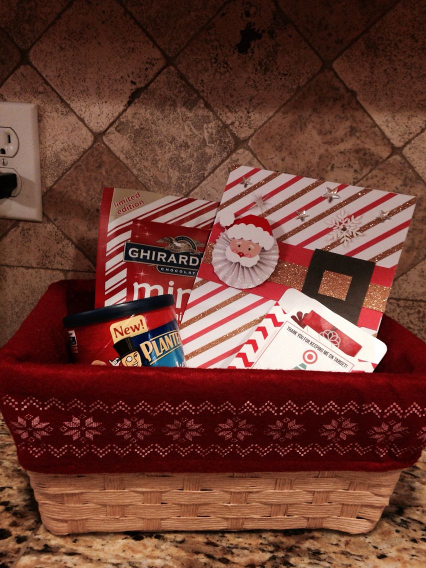 Holiday gift basket for the teacher includes target gift