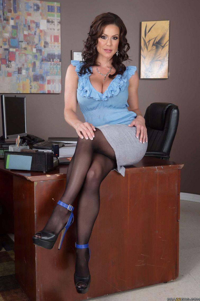 Dream milf queen secretary office sexy lust black pantyhose - Office girls in stockings ...