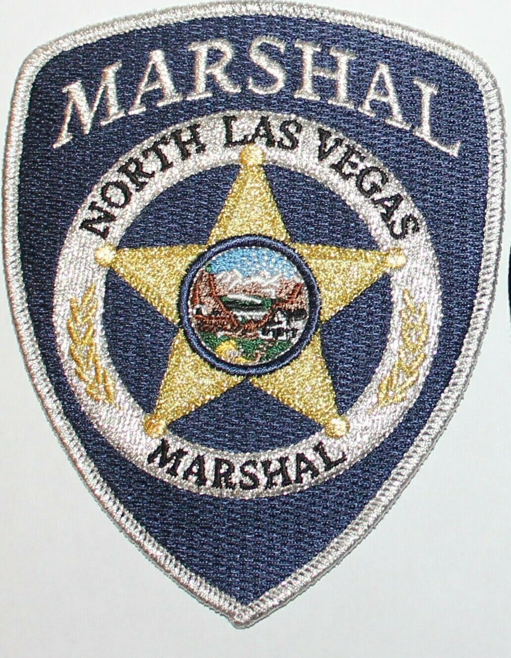 Us State Of Nevada City Of North Las Vegas Marshal Office Patch Police Badge North Las Vegas U S States
