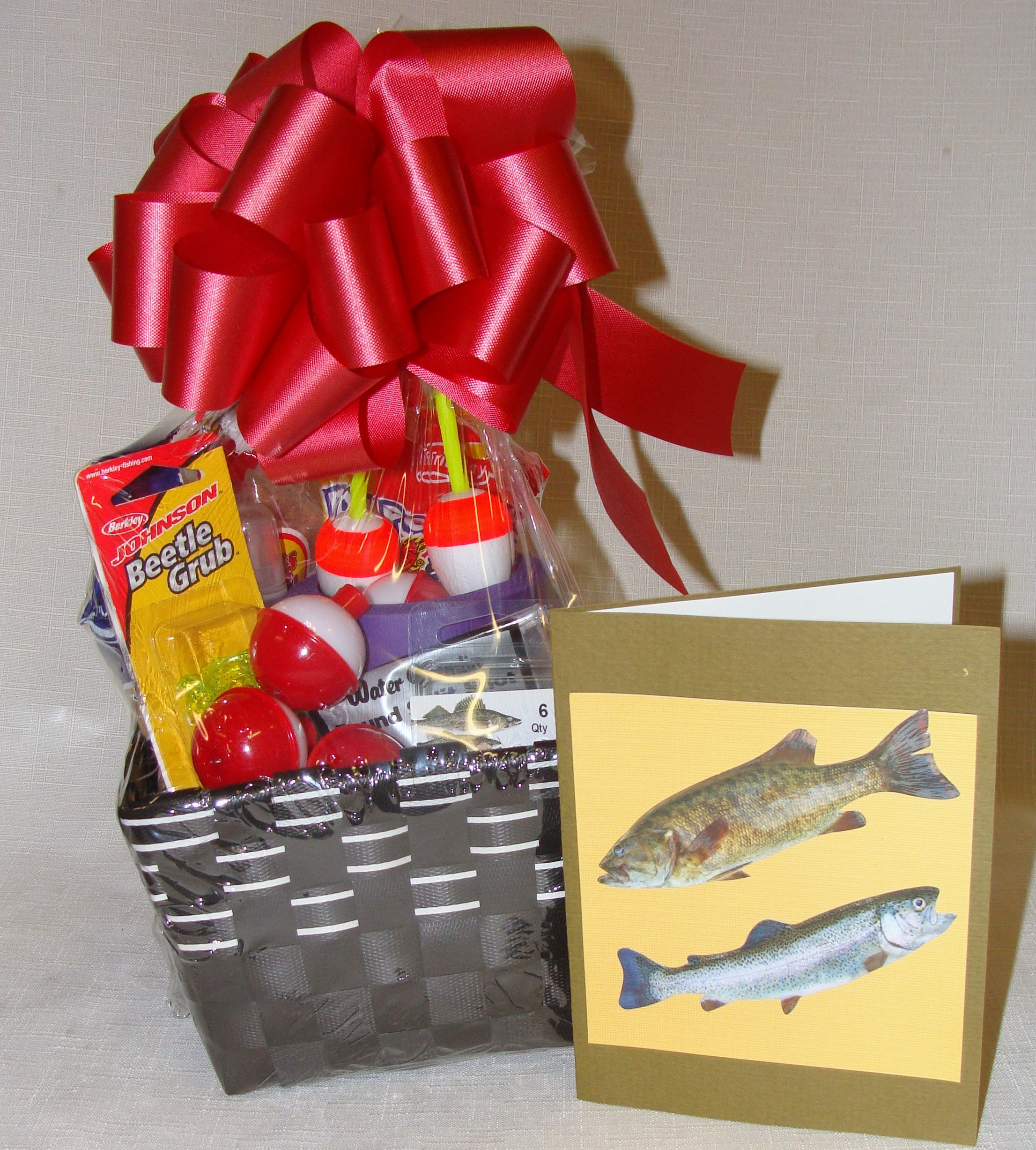 REEL THEM IN ! Nuts About Fishing Gift Basket