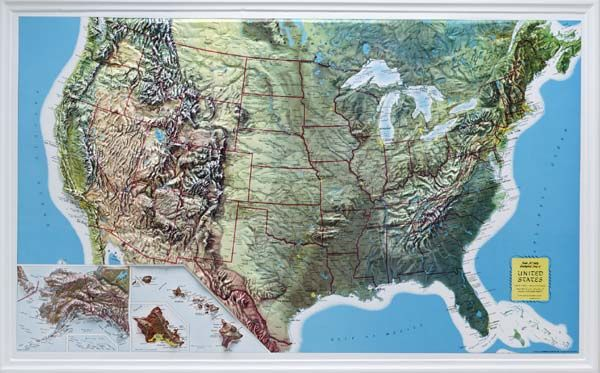 Zoomed Map Relief Map Wall Maps Map