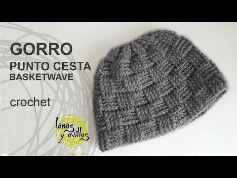 ▷ Gorro Unisex Crochet Punto Cesta - YouTube | Patrones gratis ...