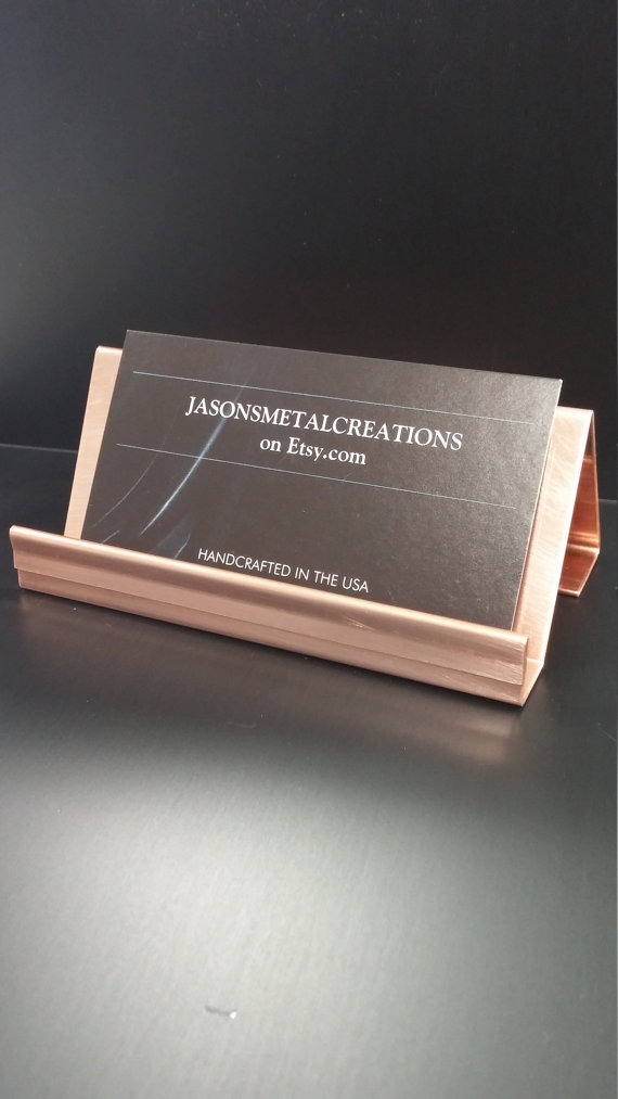 Simple but elegant business card holder made from 20 ounce copper simple but elegant business card holder made from 20 ounce copper which gives the holder a colourmoves
