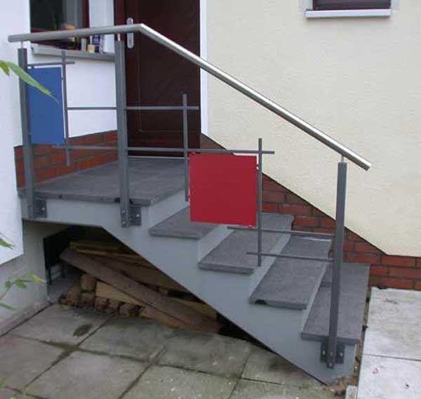 Treppengelander Aus Lackiertem Stahl Mondrian Lasst Grussen