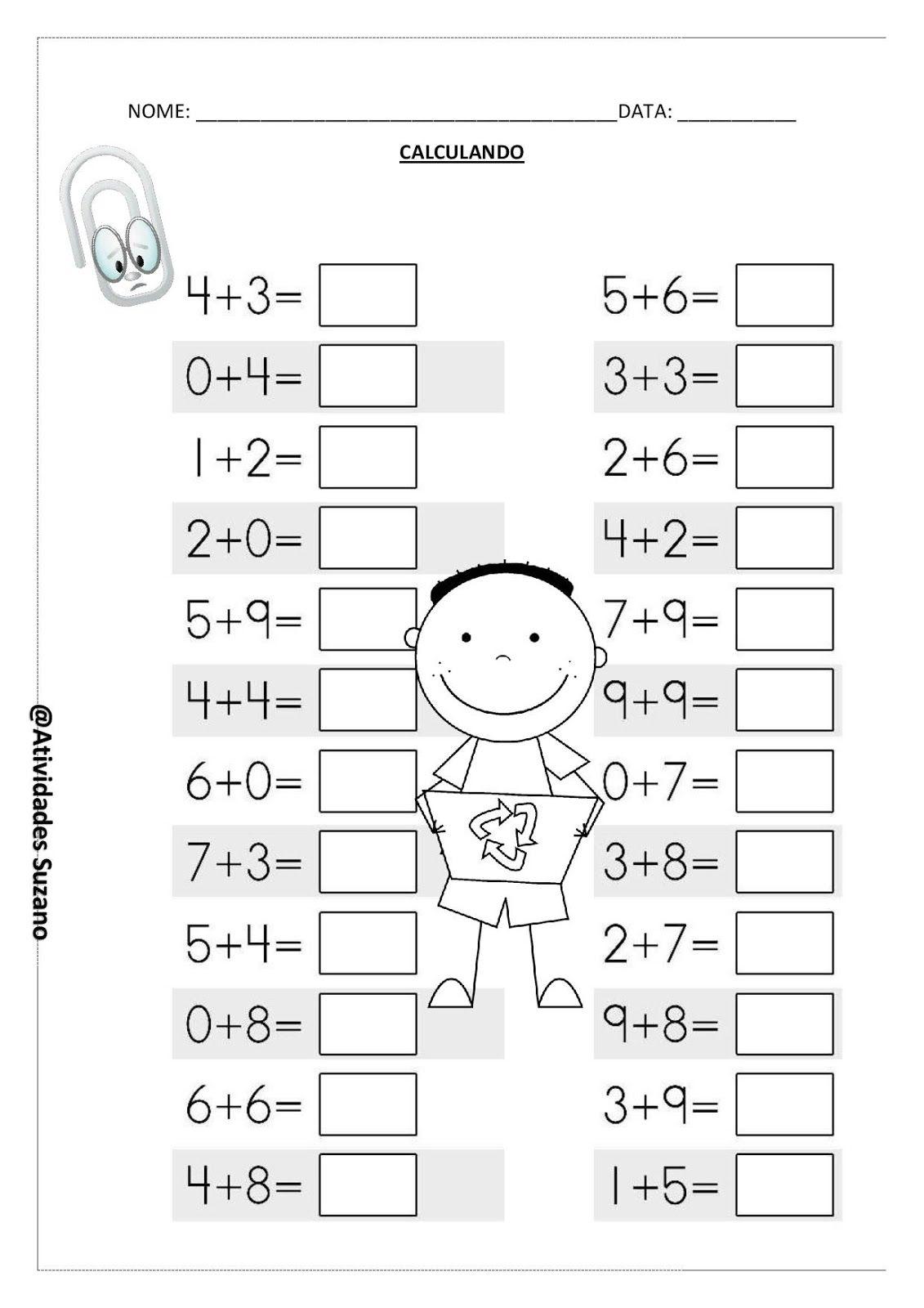 Calculando Atividades De Matematica Atividades De Aprendizagem