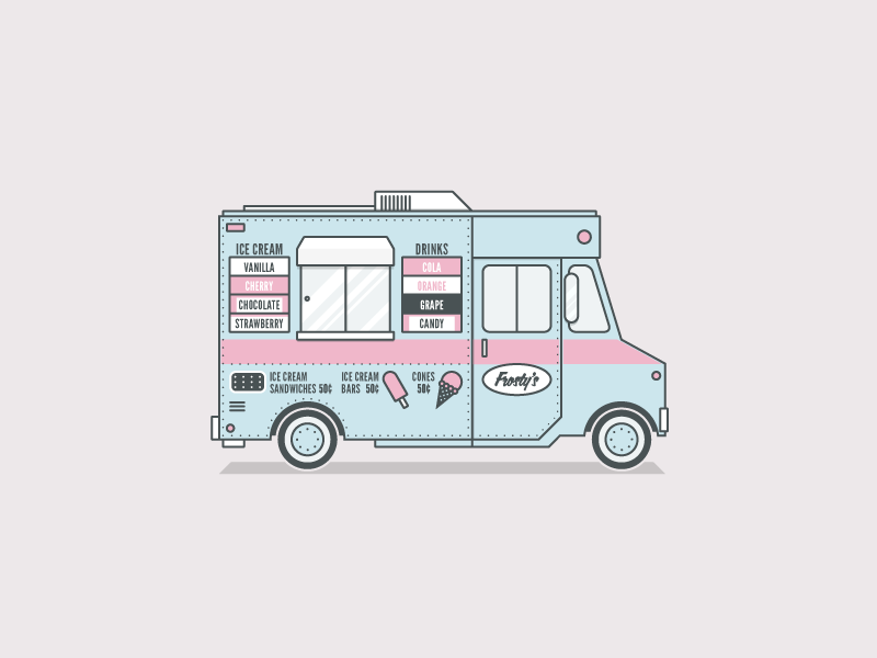 Sell On The Go With Square Van Drawing Ice Cream Van Ice Cream Truck