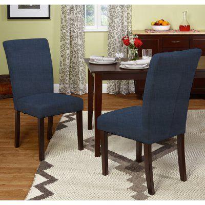 Target Marketing Systems Vinnie Solid Parson Chair - Set of 2 - 73018BGE PR