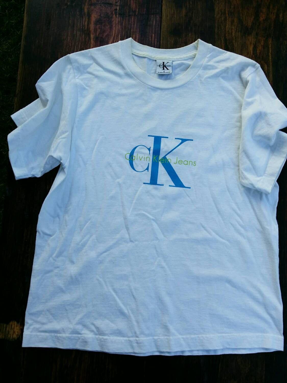 cac474fcc072 Vintage Calvin Klein tee shirt CK tshirt 1980s 90s hip hop T-shirt ...