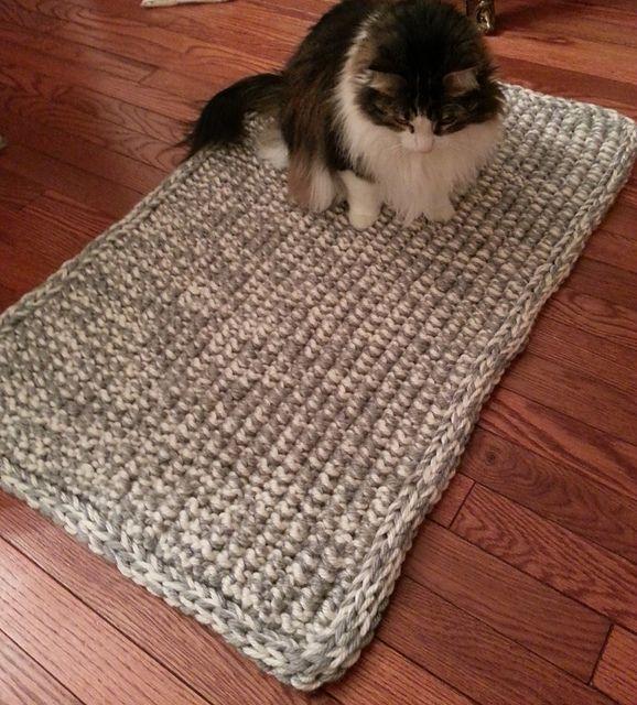 Big Stitch Knit Rug   Knit rug, Rug pattern, Rugs