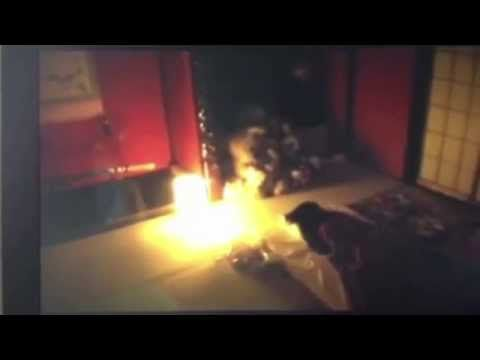 Ghost of Child Caught On Tape  as it manifests in man's front room