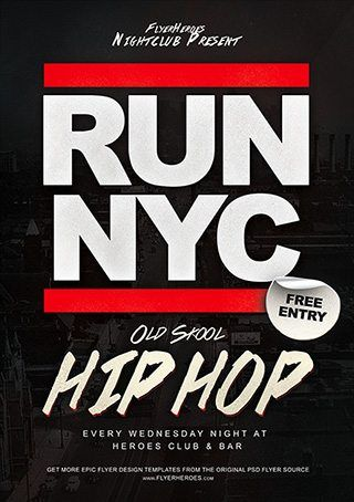 Download Free Hip Hop Flyer Psd Templates For Photoshop  Gig
