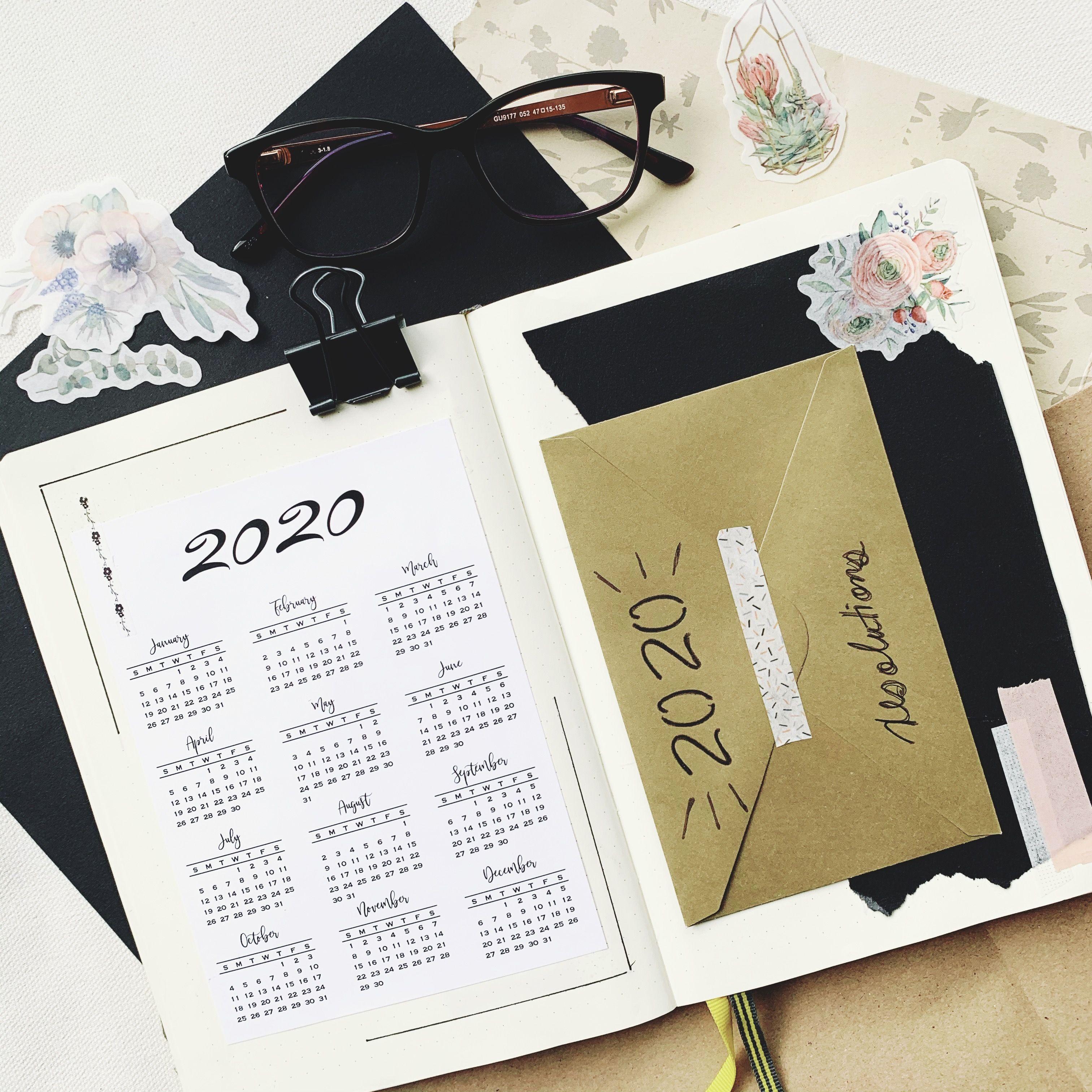2020 bullet journal easy set up ideas