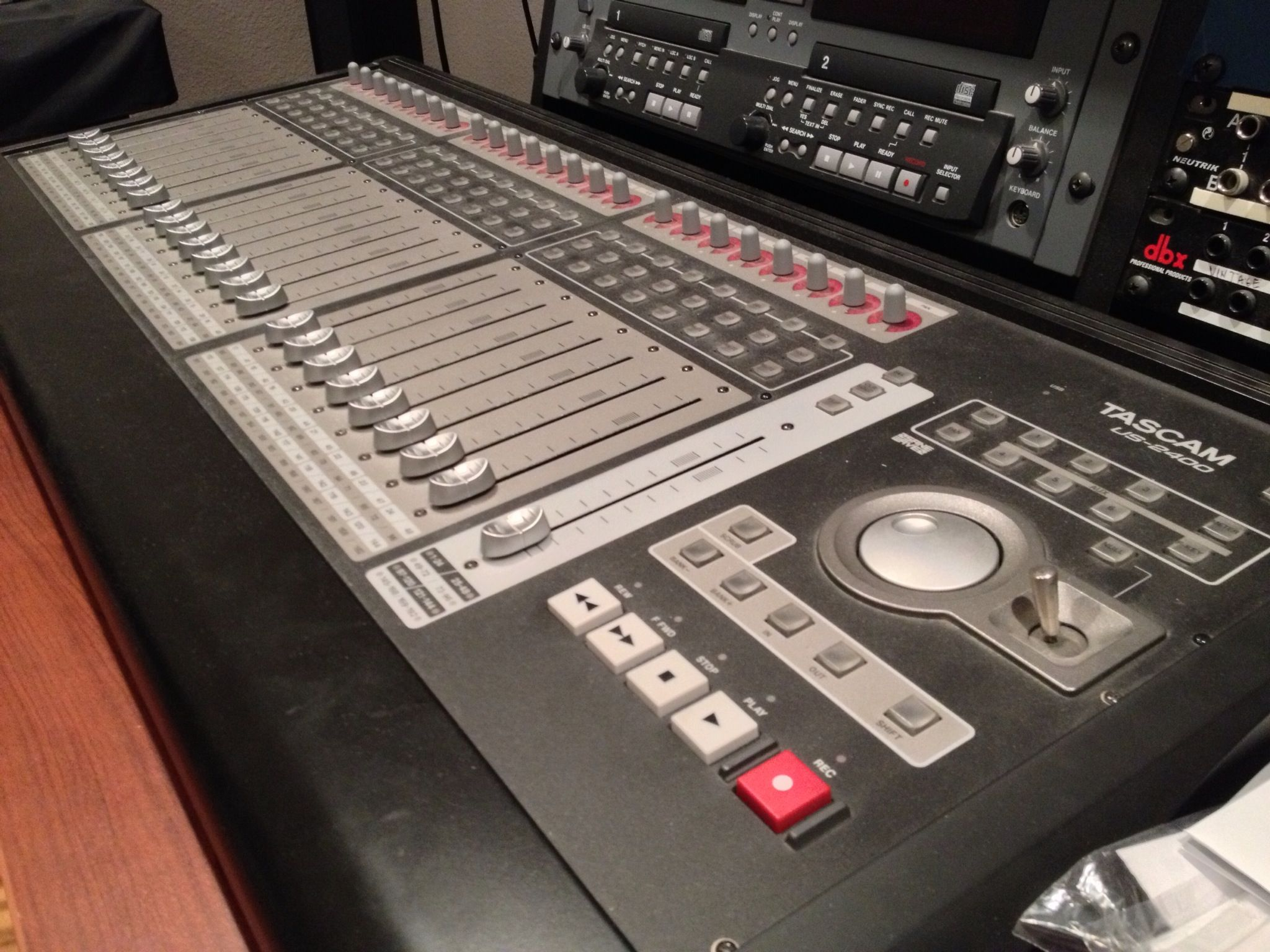 Tascam US-2400 control surface for pro tools, cubase, logic, and