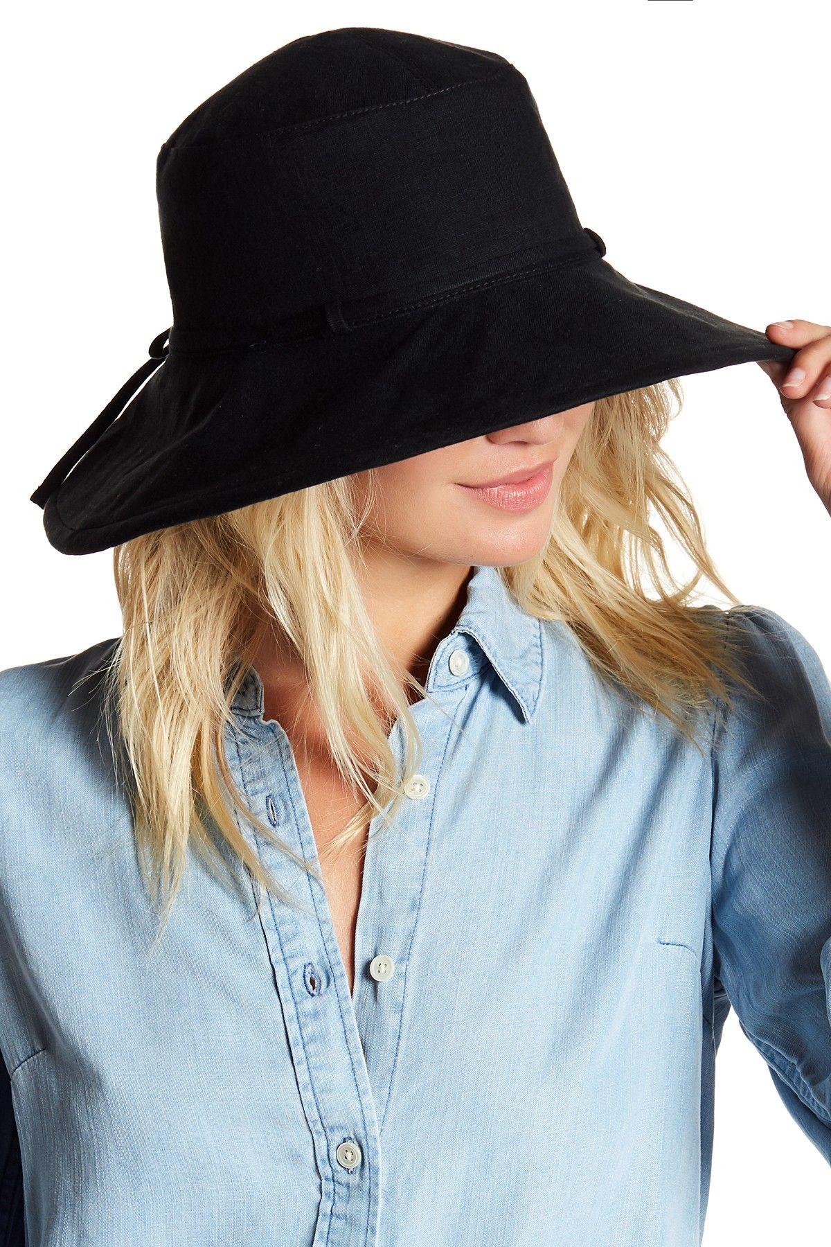 8ed16564f Helen Kaminski Capri Linen Wide Brim Bucket Hat | Fashion Casual ...